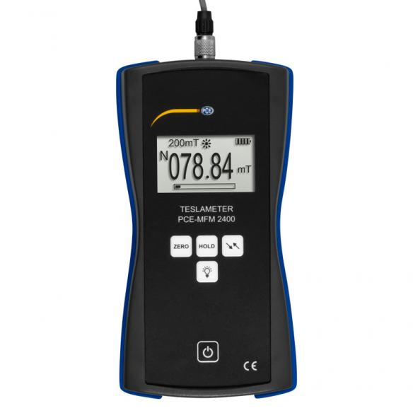 PCE Instruments PCE-MFM 2400-ICA High Precision Gaussmeter incl. ISO Calibration Certificate